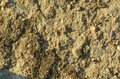 Close up of soil - can be used as background. Soil plain texture background. Royalty Free Stock Photo
