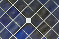 Close up of a solar cell panel Royalty Free Stock Photography