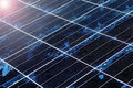 Close-up of Solar panel texture Royalty Free Stock Photo