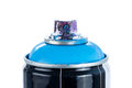 Close-up of a spray paint can with painty nozzle Royalty Free Stock Photo