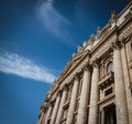 Close up of st peters basilica facade in rome italy Stock Photography