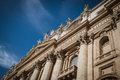 Close up of st peters basilica facade in rome italy Royalty Free Stock Images