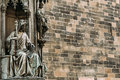 Close up of statue Of Czech King Charles Iv In Prague, Czech Republic Royalty Free Stock Photo