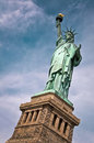Close up of the statue of liberty with her pedestal, New York Royalty Free Stock Photo
