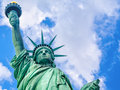 Close up of the The Statue of Liberty in New York Royalty Free Stock Photo