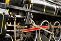 Close-Up Of Steam Train Wheels Royalty Free Stock Photo
