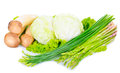 Close-up still life with mixed vegetables Royalty Free Stock Photo