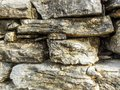 Close up of the stone wall Royalty Free Stock Photo