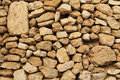 Close-up of a Stone Wall Outside the Temple Mount. Royalty Free Stock Photo