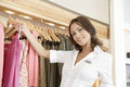 Close up of Store Assitant Working Royalty Free Stock Images
