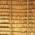Straw background. Texture of thatch roof Royalty Free Stock Photo