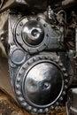 Close up of stream powered locomotive virginia museum transportation Royalty Free Stock Images
