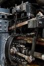 Close up of stream powered locomotive virginia museum transportation Royalty Free Stock Photo