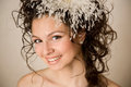 Close-up of stylish bride Royalty Free Stock Photos