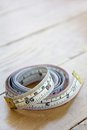 Close up of tape measure background Stock Images