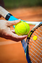 Close up of a tennis player Royalty Free Stock Photo