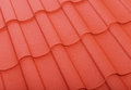 Close up of terracotta roof tiles Royalty Free Stock Photo