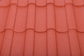 Close up of terracotta roof tiles the Royalty Free Stock Images