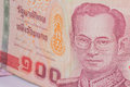 Close up of thailand currency thai baht with the images of thailand king denomination of bahts Royalty Free Stock Photography