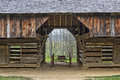 Close Up Of The Tipton Place Barn In Cades Cove Royalty Free Stock Photo