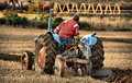 Close up of tractor and ploughing at the scottish championship near wick caithnesss scotland u k for more information go to www Royalty Free Stock Photography