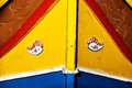 Close up of traditional Maltese colorful boat Stock Photography