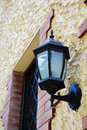 Close up traditional outdoor wall lamp Royalty Free Stock Photography