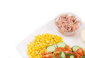 Close up of tuna salad whole background Royalty Free Stock Photos
