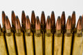 Close-up of two rows of bullets Royalty Free Stock Photo