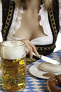 Close-up of a typical meal at the Oktoberfest Royalty Free Stock Photo