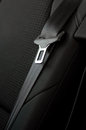 Close up of unbuckled safety belt in a rear seat of modern car Royalty Free Stock Images