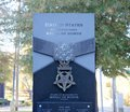 Close-Up of United States Congressional Medal of Honor Tribute, Jackson, Mississippi Royalty Free Stock Photo