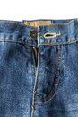 Close-up of unzipped and unbuttoned blue jeans Royalty Free Stock Photo