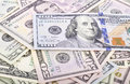 Close Up of US dollars Royalty Free Stock Photo