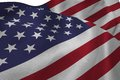Close up of the us flag Royalty Free Stock Photo