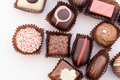 Close up of various colorful chocolat bonbons 2 Royalty Free Stock Image