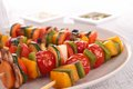 Vegetable kebab Royalty Free Stock Photo