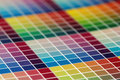 Close-up of a very colorful a test print Royalty Free Stock Photo