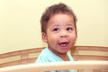 Close up view of a beautiful african baby boy Royalty Free Stock Photo