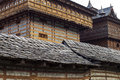 Close up view of Bhimakali Temple at Saharan, Himachal Pradesh, India. Royalty Free Stock Photo