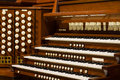 Close up view church pipe organ Royalty Free Stock Images