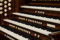 Close up view church pipe organ Royalty Free Stock Image