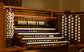 Close up view church pipe organ Royalty Free Stock Photos