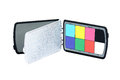 Close up view of color checker equipment professional Stock Image