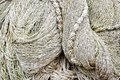 Close up view of fishing net marine background Royalty Free Stock Photography