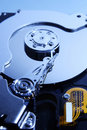 Close-up view of the  hard disk drive Royalty Free Stock Photo