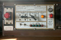 Close up view of a locomotive control panel Royalty Free Stock Photo
