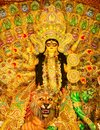 Close up view of Maa Durga`s Face during Durga Puja festival