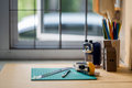 Close up view of the office tools Royalty Free Stock Photo