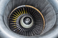 Close up view on a part plane turbine. Royalty Free Stock Photo